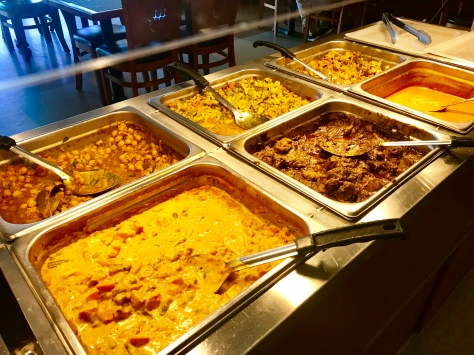 A portion of the lunch buffet in Bawarchi Biryanis