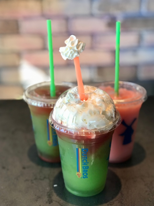 Our drinks at Dutch Bros.
