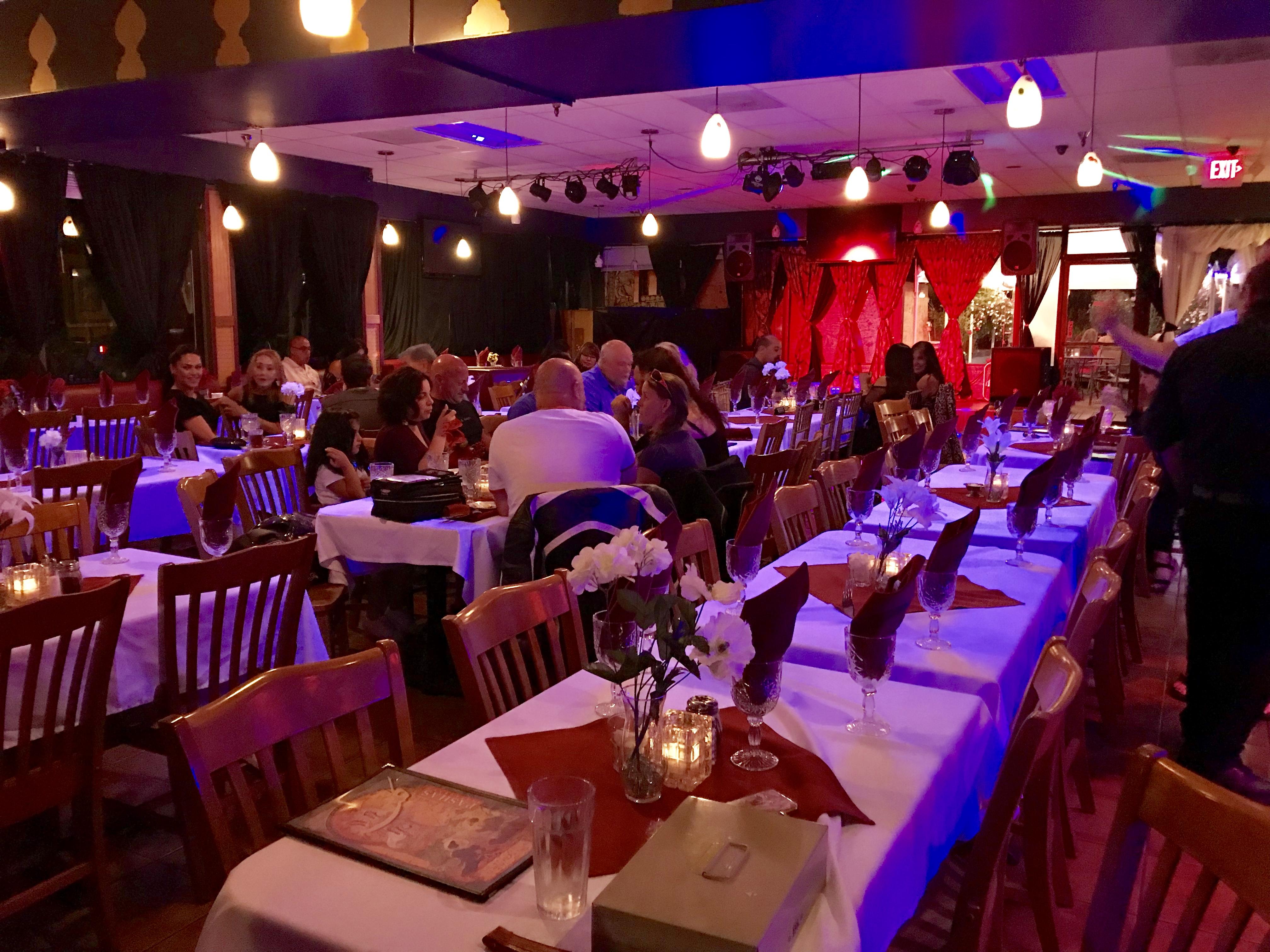 Inside Pasha Restaurant & Lounge in Oregon