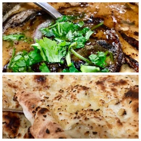 Chana Tarkkah daal and Garlic naan in Zaiqa