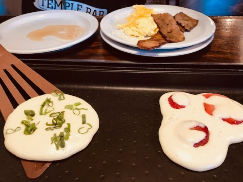 Kids are making and flippin' their pancakes in Slappy Cakes