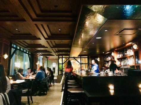 Inside Q Restaurant and Bar in Portland Downtown