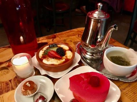 Desserts and tea in Pix Patisserie