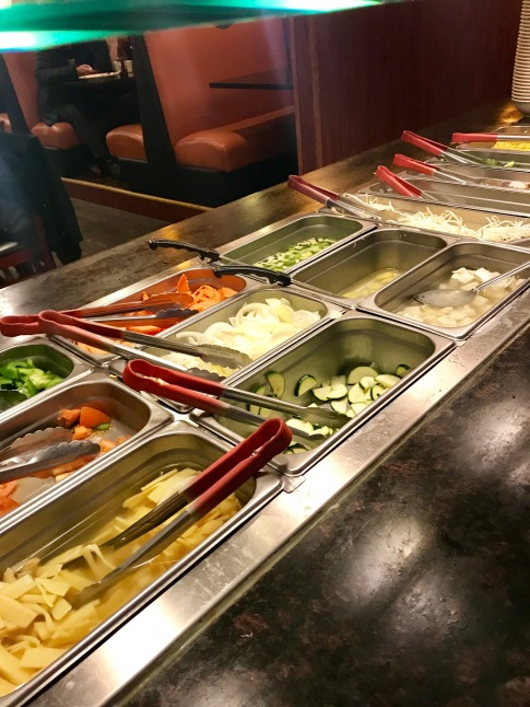 Fresh items to choose from in Portland Mongolian Grill & Hot Pot