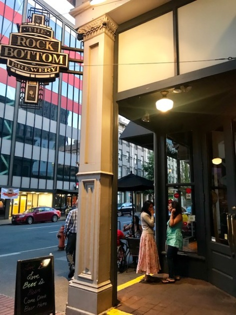 The Rock Bottom Restaurant and Brewery in Portland Downtown